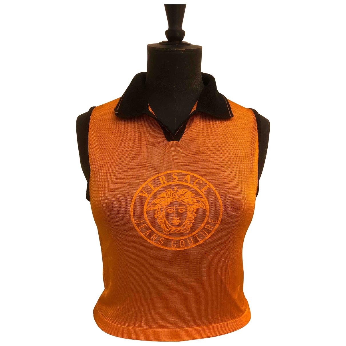 Versace Jean - Polos   pour homme en autre - orange