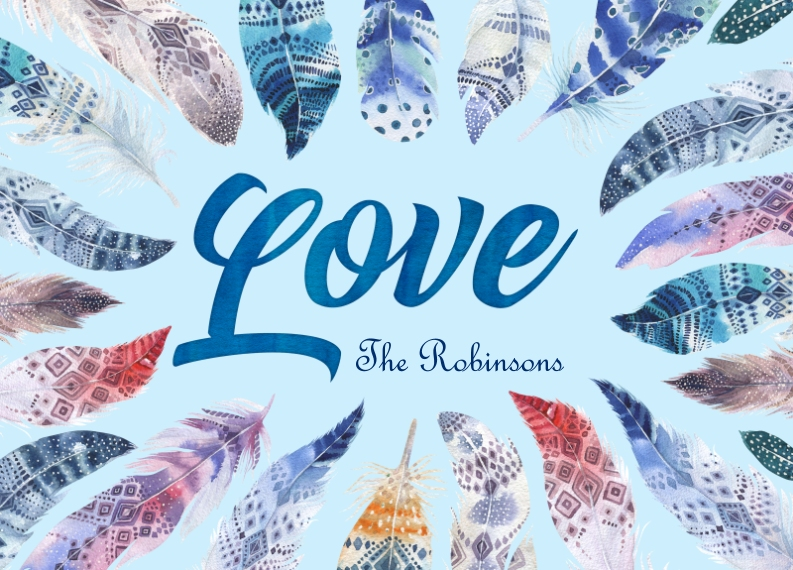 Love Personalized Floor Mat, Gift -Love Feathers