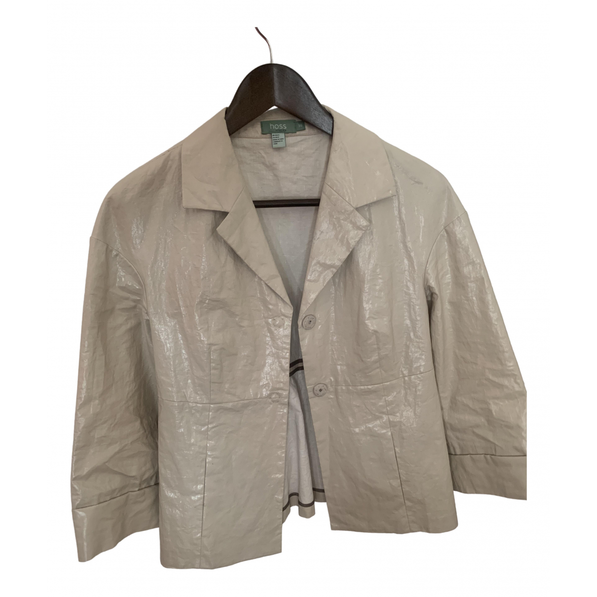Hoss Intropia \N Beige Linen jacket for Women 38 IT