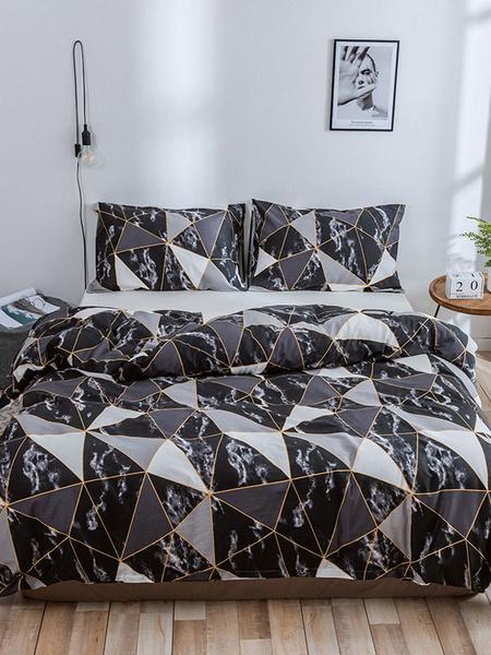 Milanoo Bedding Set 3-Piece Cotton Pink Beddingroom Supplies Bed Sheet Duvet Cover Pillowcase
