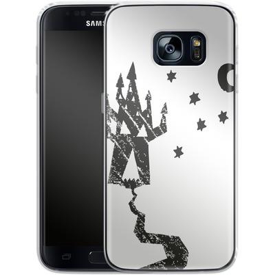 Samsung Galaxy S7 Silikon Handyhuelle - Haunted House von caseable Designs