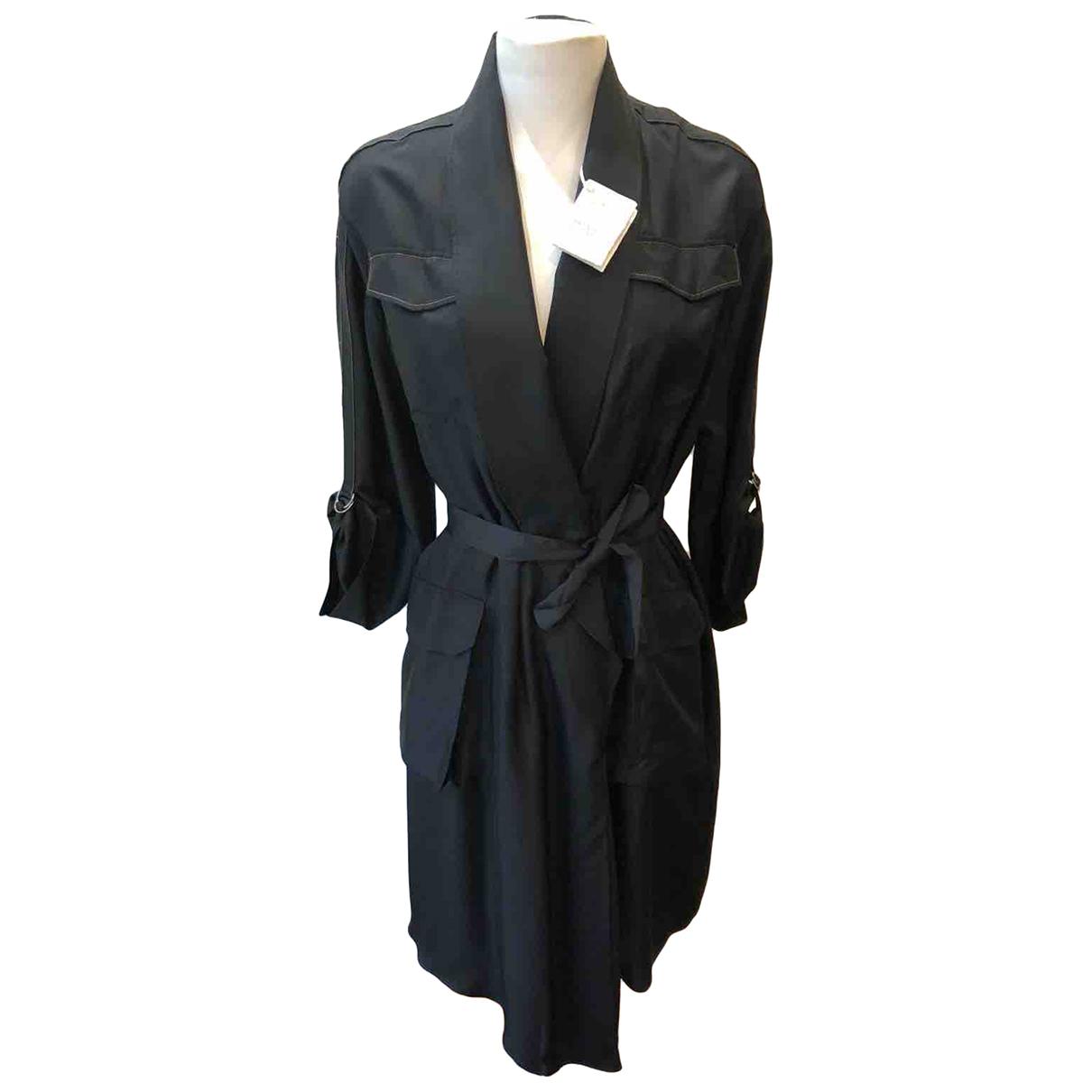 Brunello Cucinelli N Black Silk coat for Women M International