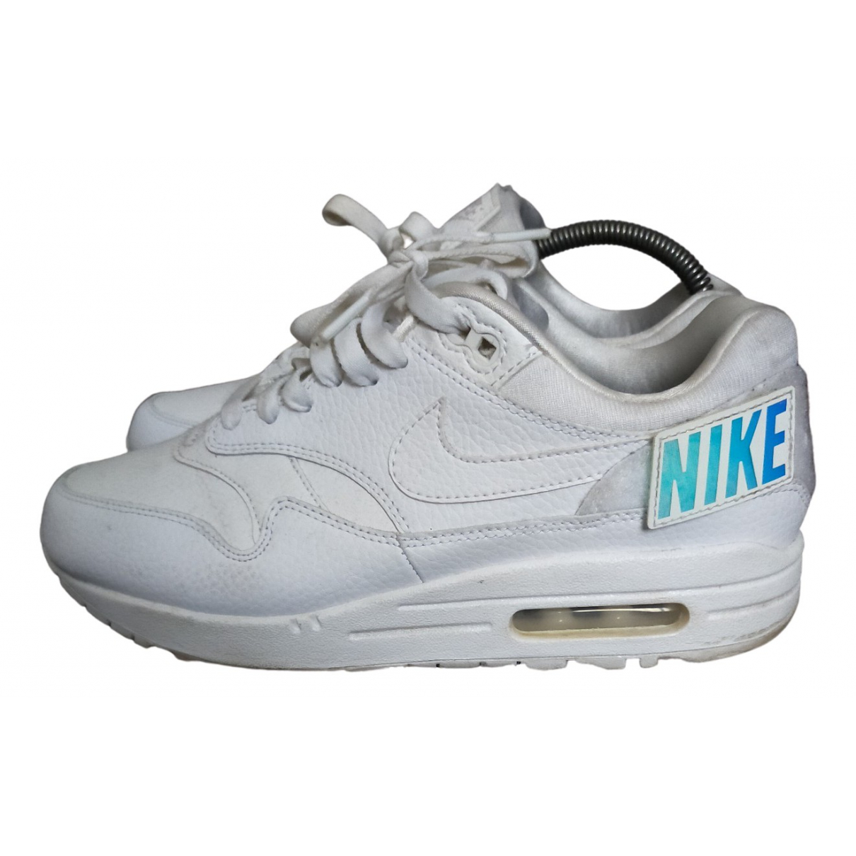 Nike Air Max 1 White Leather Trainers for Women 40 EU