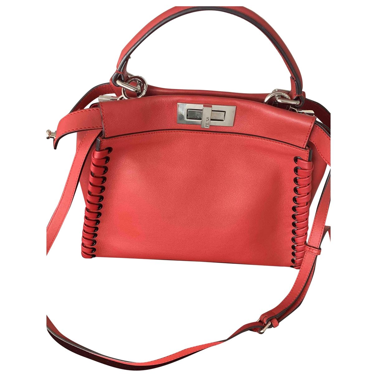 Fendi Peekaboo Red Leather handbag for Women \N