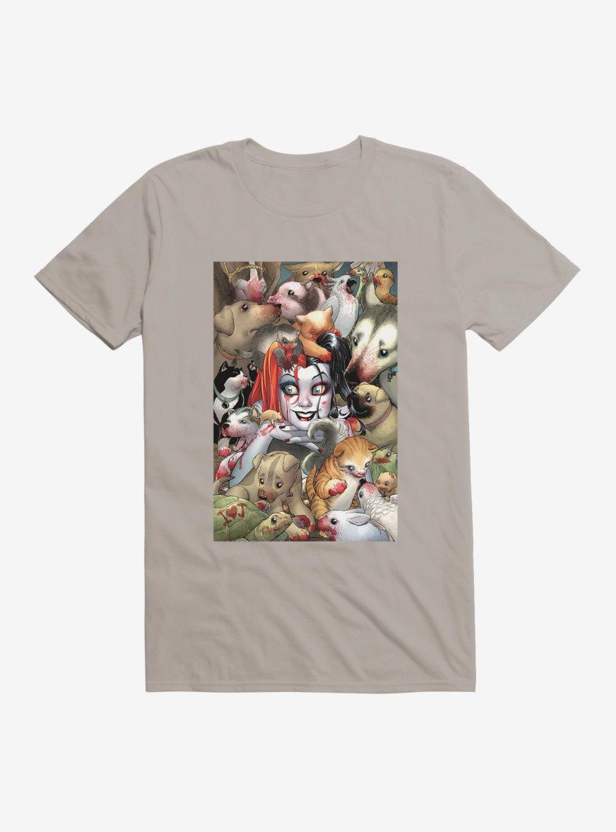 DC Comics Batman Harley And Her Bloody Pets T-Shirt
