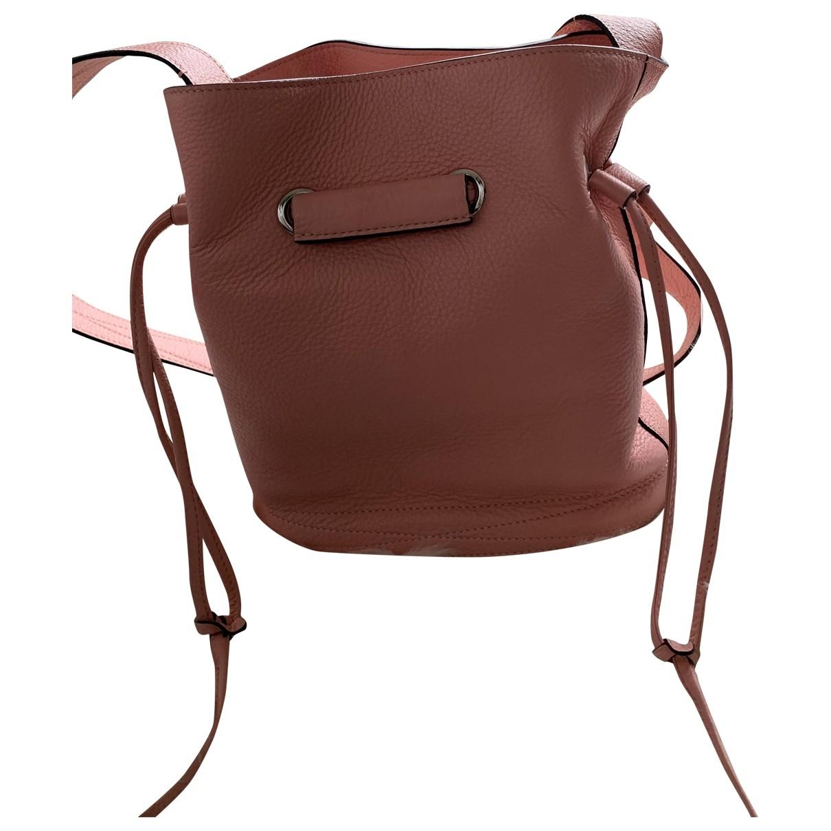 Lancel Huit Handtasche in  Rosa Leder