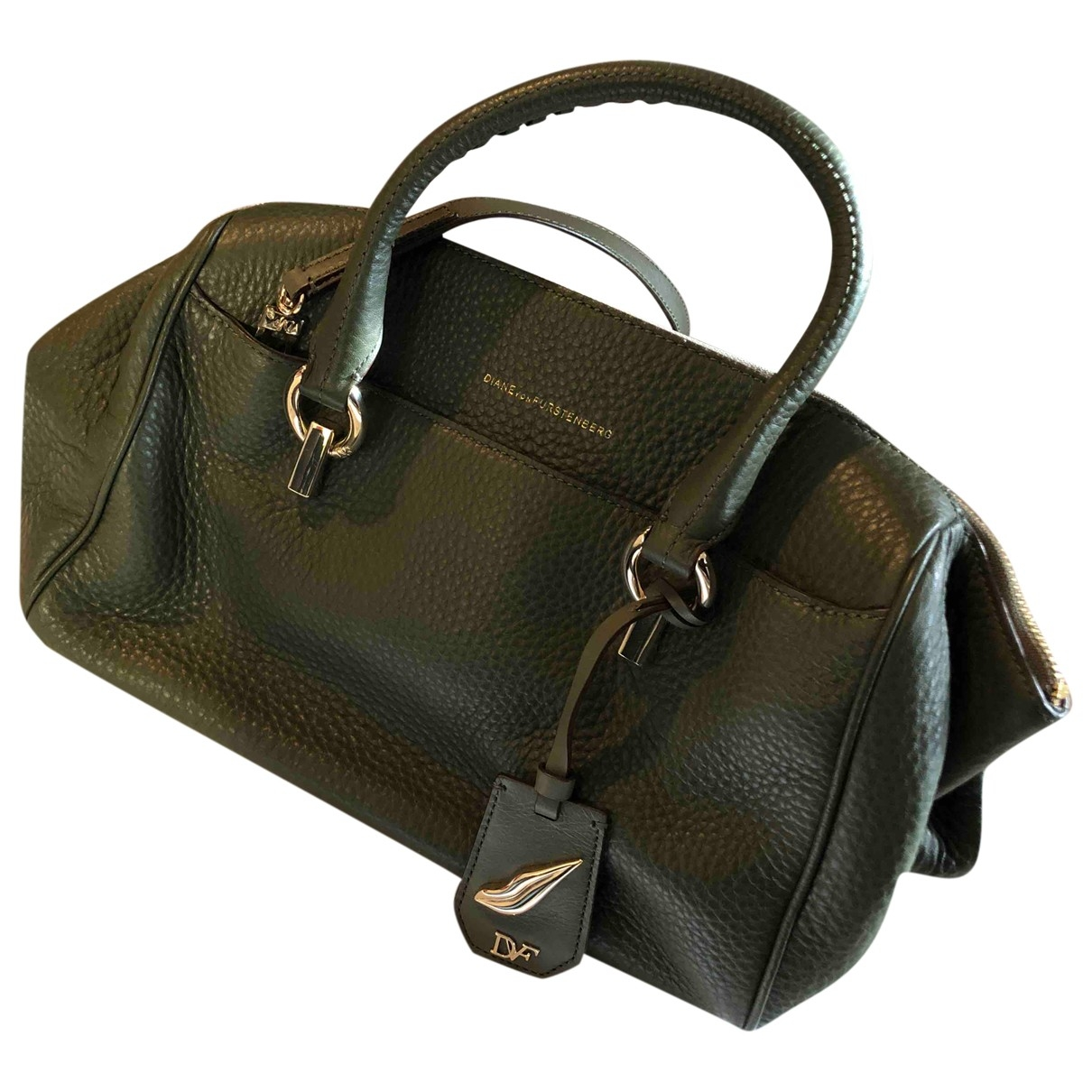 Diane Von Furstenberg \N Khaki Leather handbag for Women \N