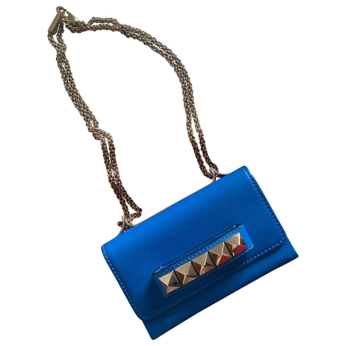 Valentino Garavani Vavavoom Blue Leather Clutch bag for Women \N