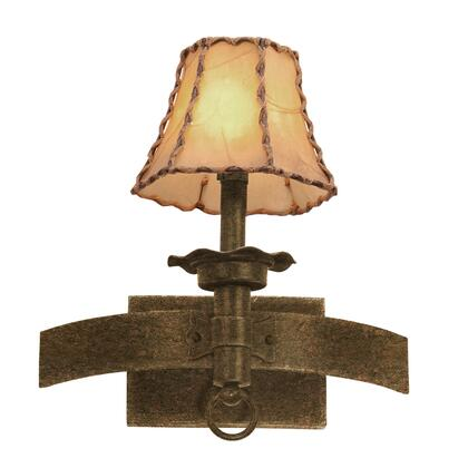 Americana 4211AC/S15 1-Light Wall Bracket in Antique Copper with Beaded Taupe Fabric