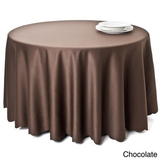 Tablecloth Liners with Satin Sheen and Scalloped Edge (Chocolate - 90 inches wide x 90 inches long - Round)