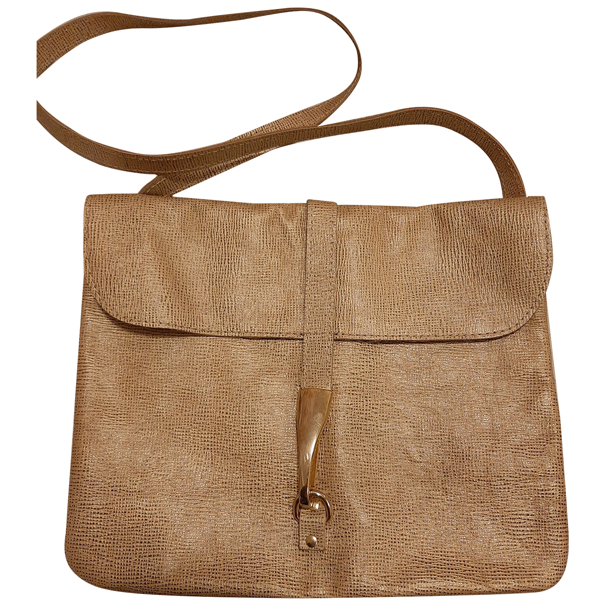 Non Signé / Unsigned N Gold Leather handbag for Women N