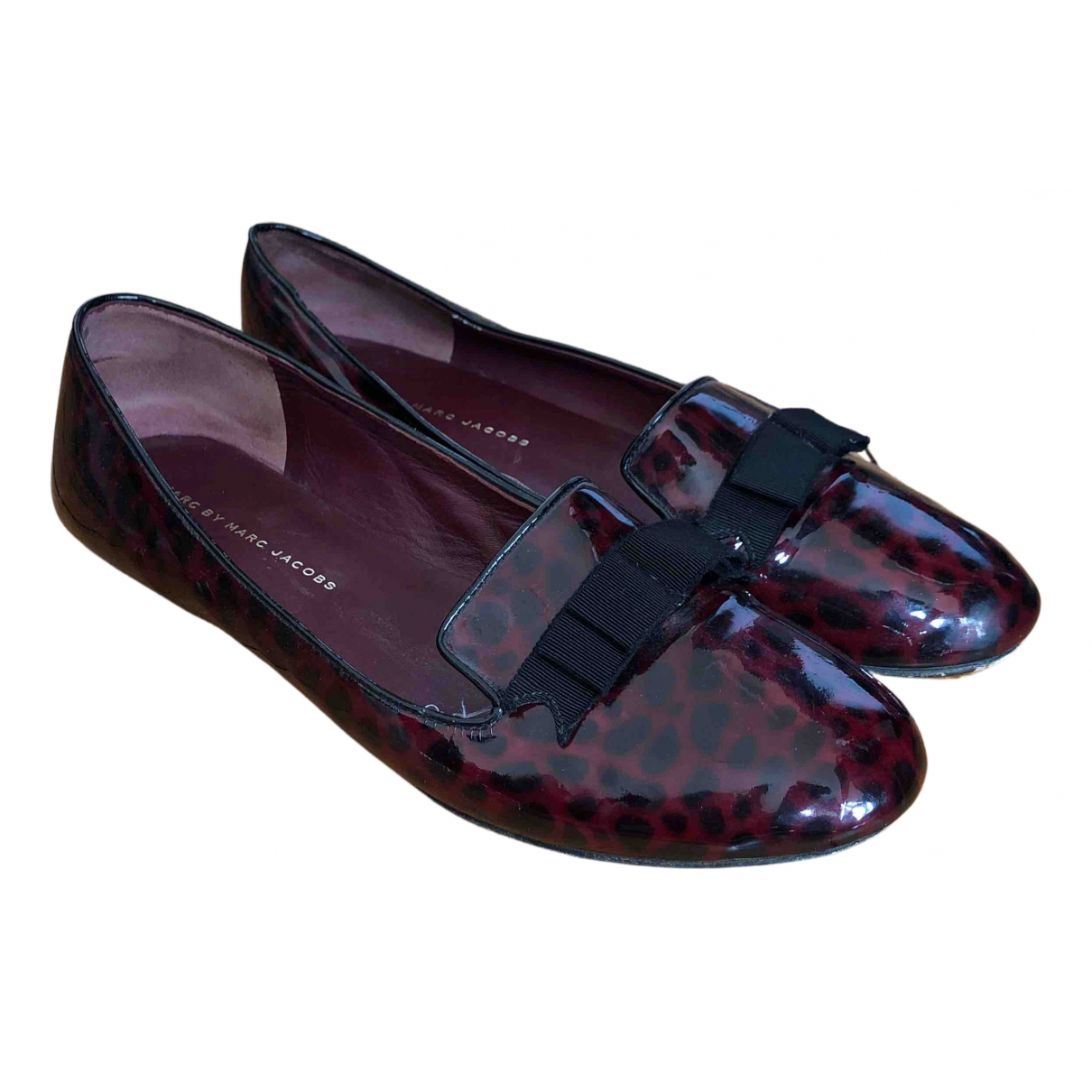 Marc By Marc Jacobs \N Ballerinas in  Bordeauxrot Lackleder