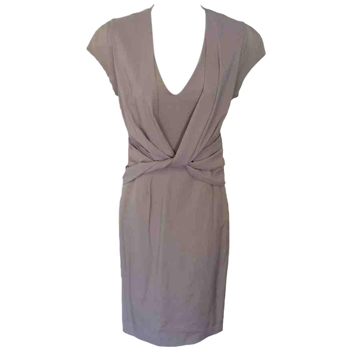 Reiss - Robe   pour femme en laine - beige