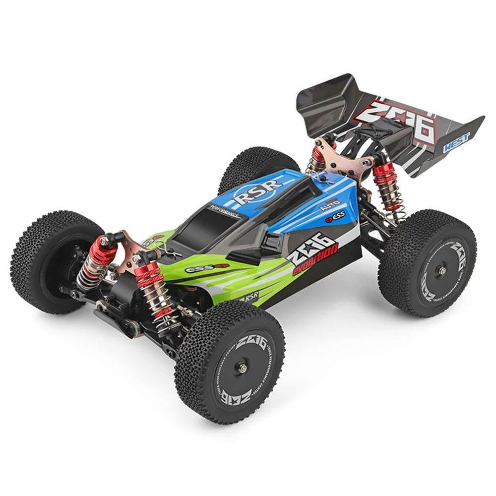 Wltoys 144001 Driving 1/14 2.4G 4WD 60km/h Electric Brushed Off-Road Buggy RC Car RTR - Green