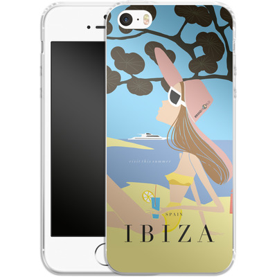 Apple iPhone SE Silikon Handyhuelle - IBIZA TRAVEL POSTER von IRMA