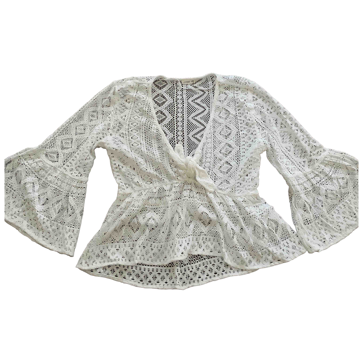 Oysho - Top   pour femme en coton - blanc