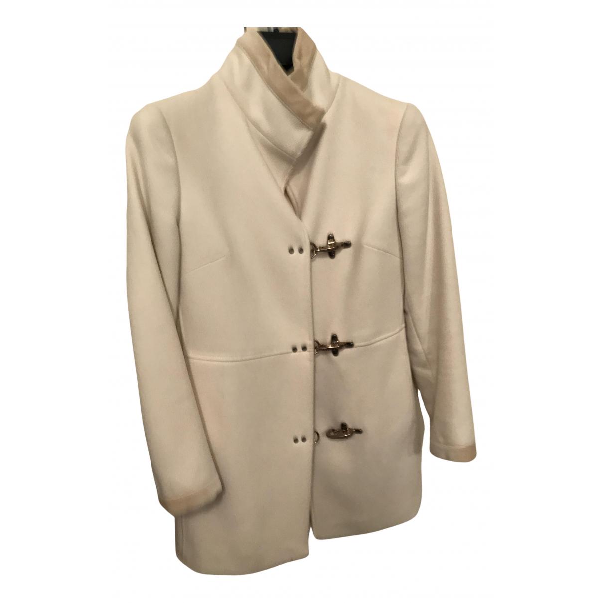 Fay - Manteau   pour femme en laine - blanc