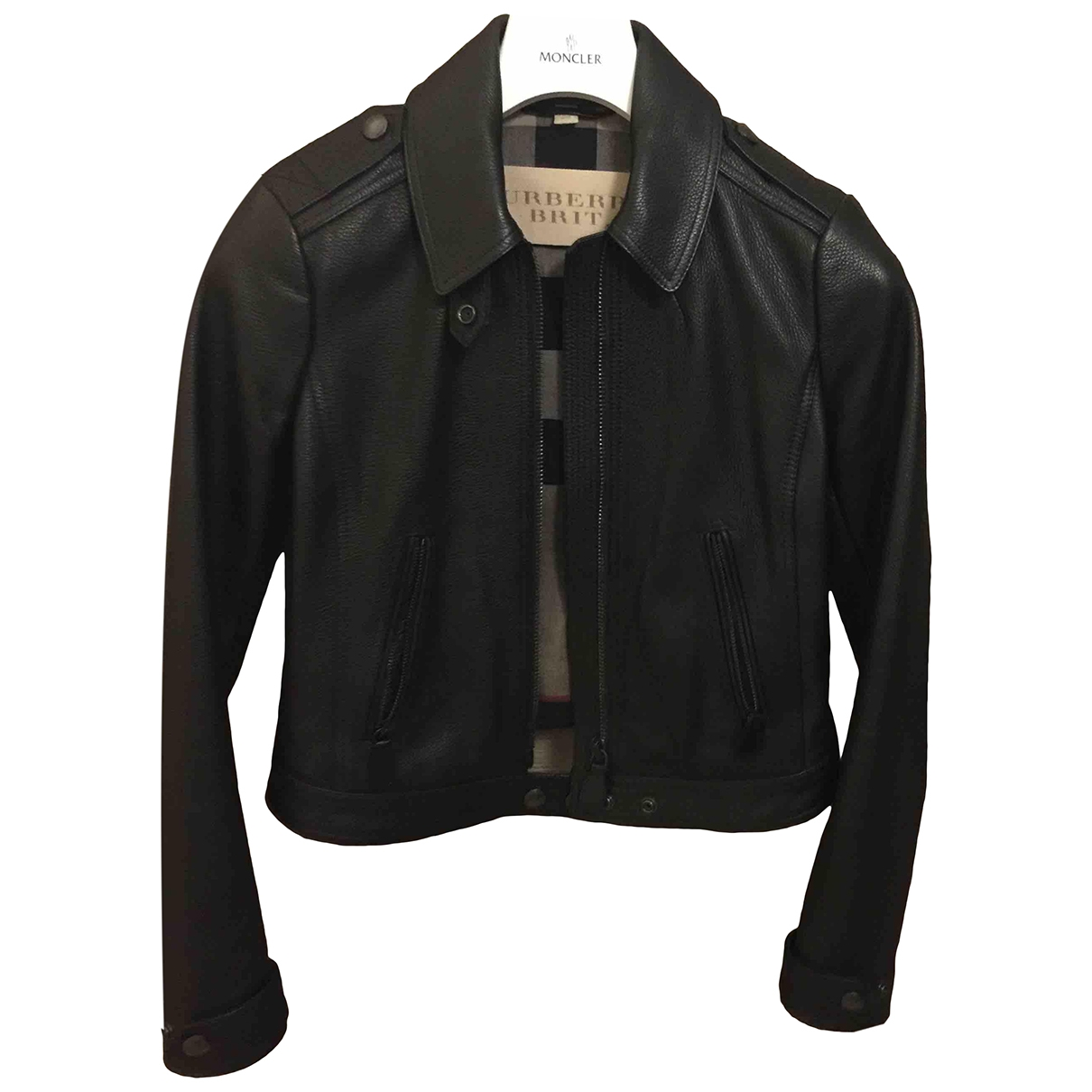 Burberry \N Black Leather jacket for Women 2 US