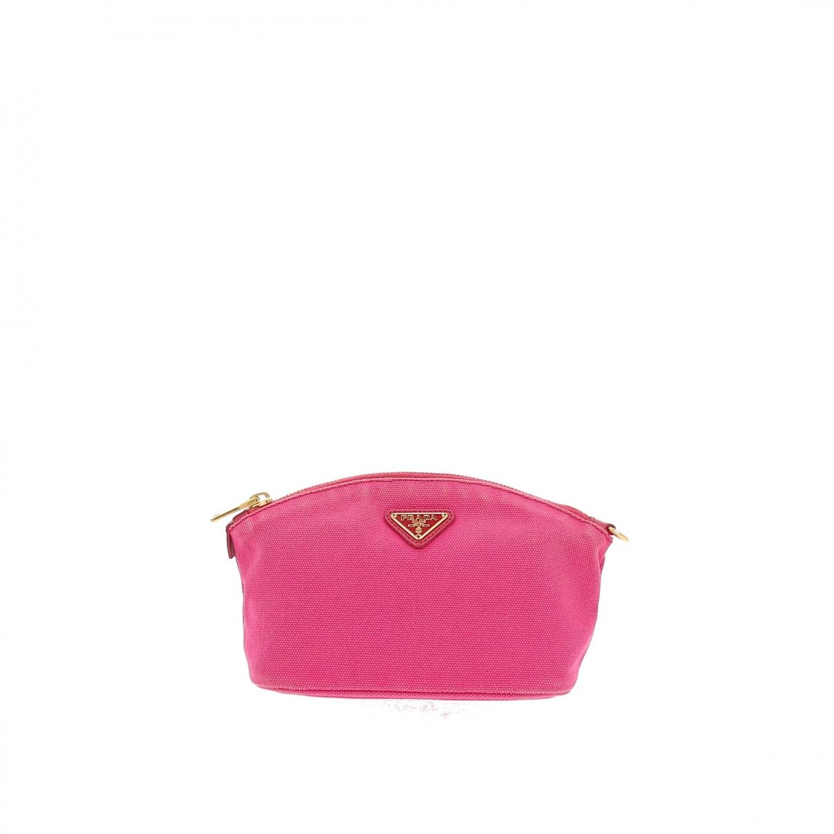 Prada \N Pink Cloth Purses, wallet & cases for Women \N