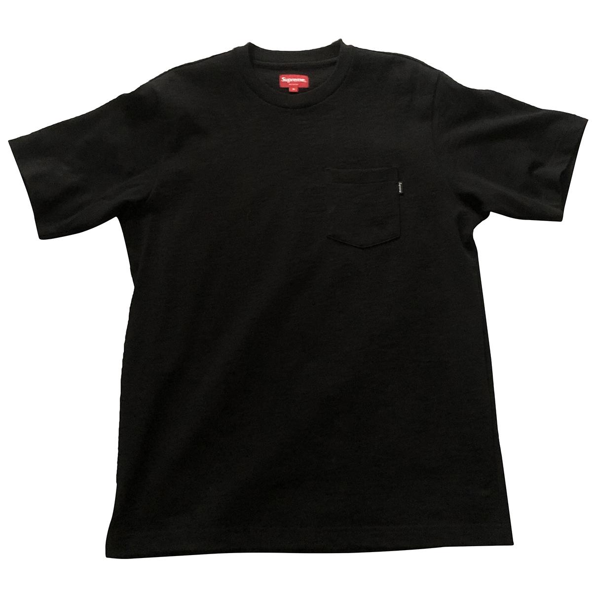 Supreme \N Black Cotton T-shirts for Men S International