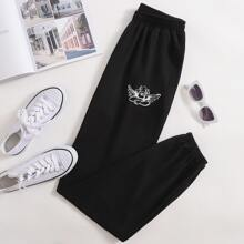 Angel Embroidery Joggers