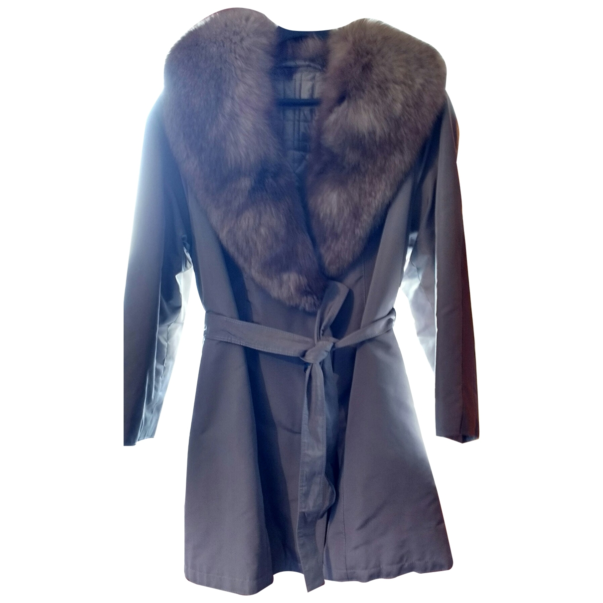 Non Signé / Unsigned \N Grey Silk coat for Women 46 IT