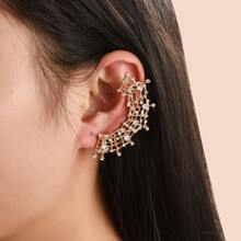 Ohrringe mit Strass und Spinnennetz Dekor