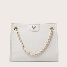 Braided Chain Tote Bag