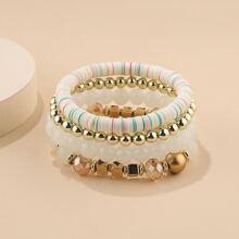 4pcs Simple Beaded Bracelet