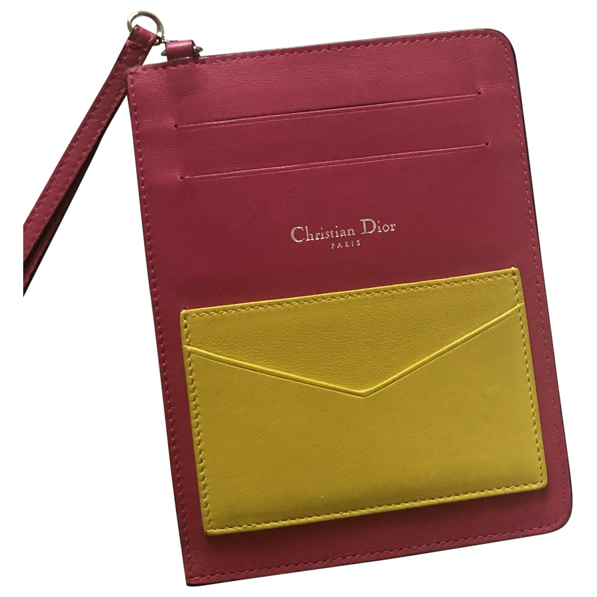 Dior \N Pink Leather Purses, wallet & cases for Women \N