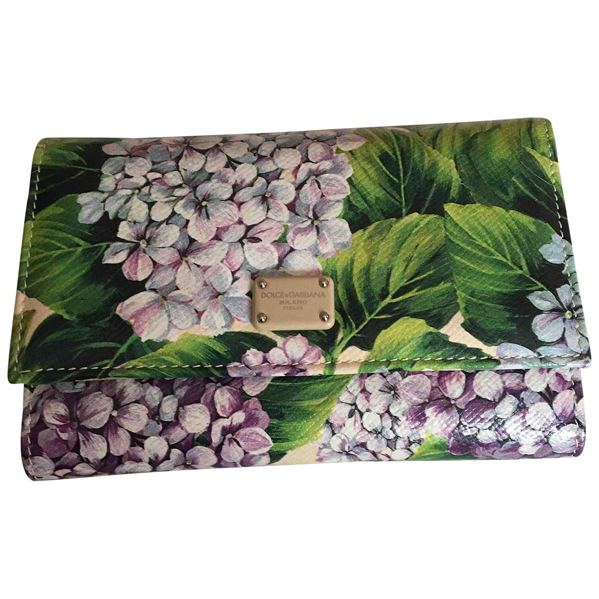Dolce & Gabbana \N Portemonnaie in  Gruen Leder