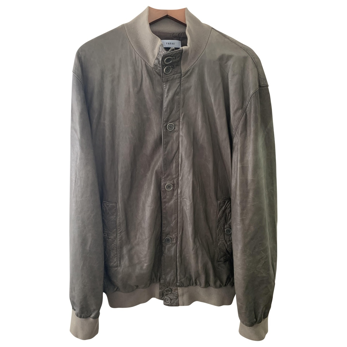 Nicole Farhi \N Green Leather jacket  for Men 54 IT