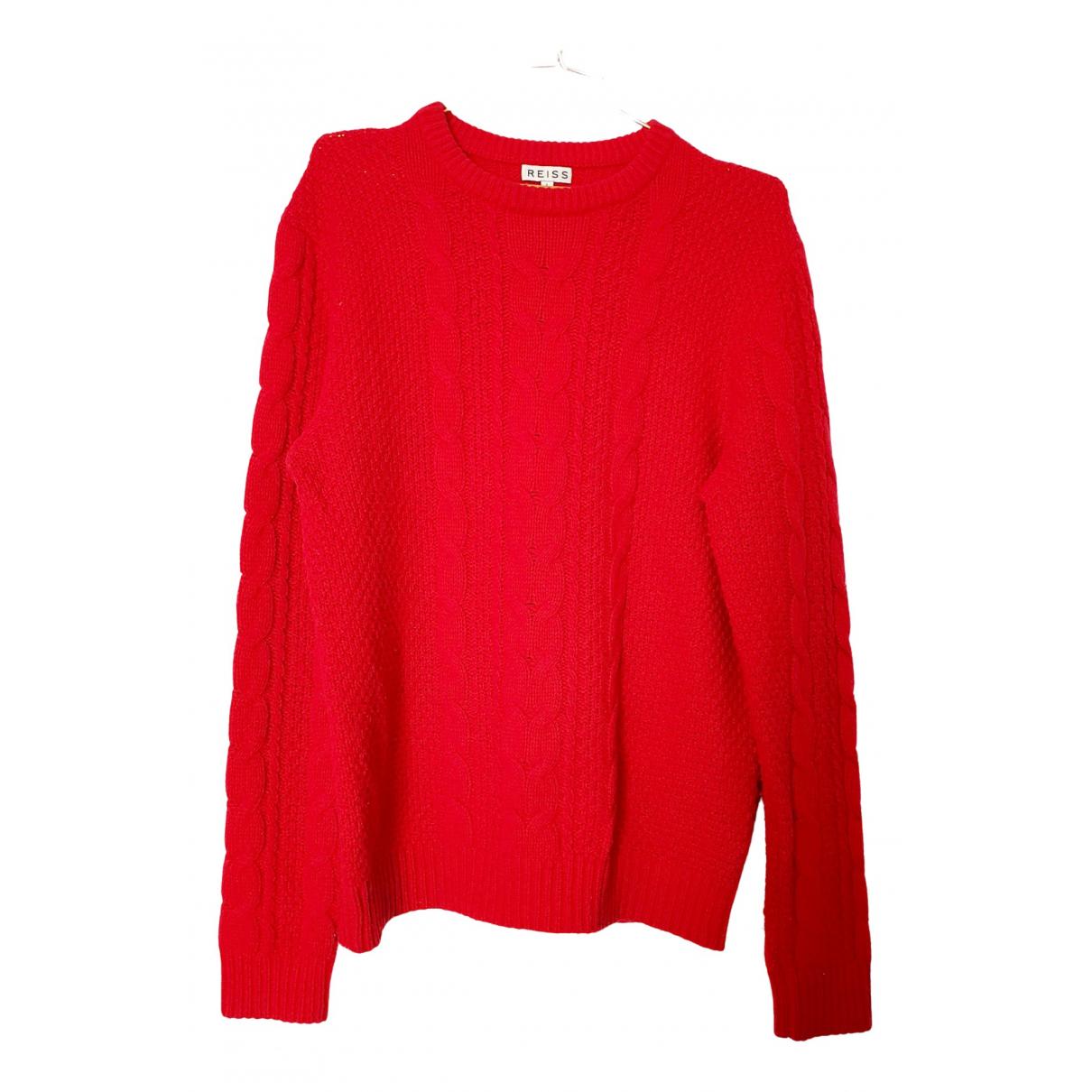Reiss - Pull   pour femme en laine - rouge