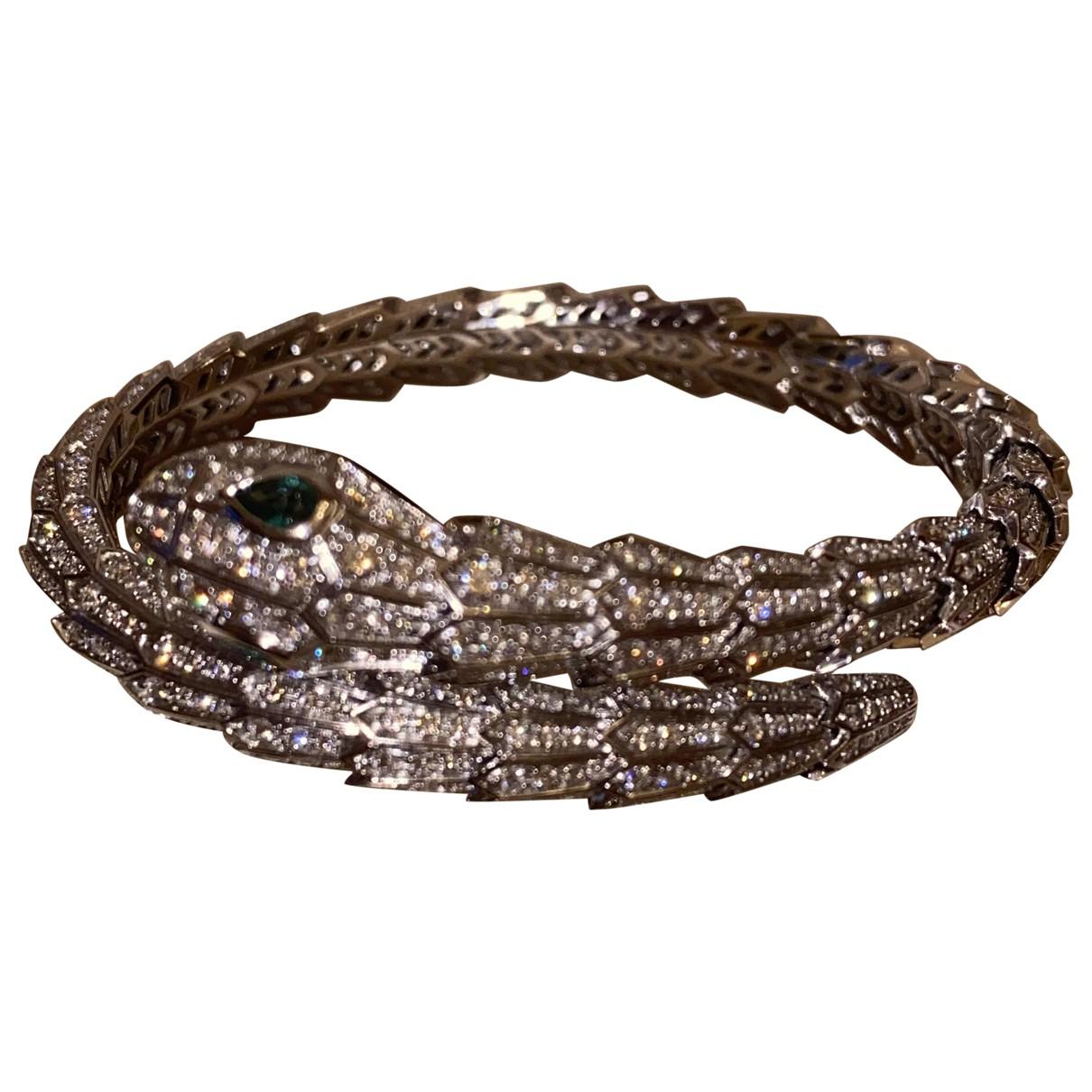 Bvlgari Serpenti Armband in  Metallic Weissgold