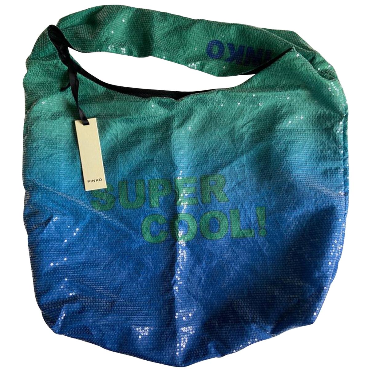 Pinko \N Handtasche in  Blau Mit Pailletten