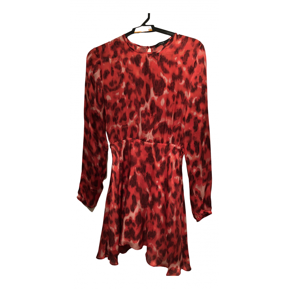 Non Signé / Unsigned N Red Silk dress for Women S International