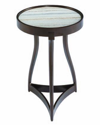 238369-0027 Geode Quartz Martini Table in
