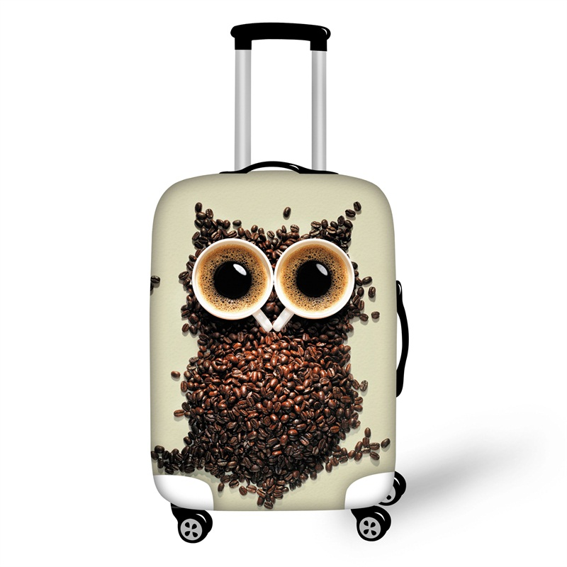 3D Printing Owl Spandex Travel Dust proof Luggage Cover