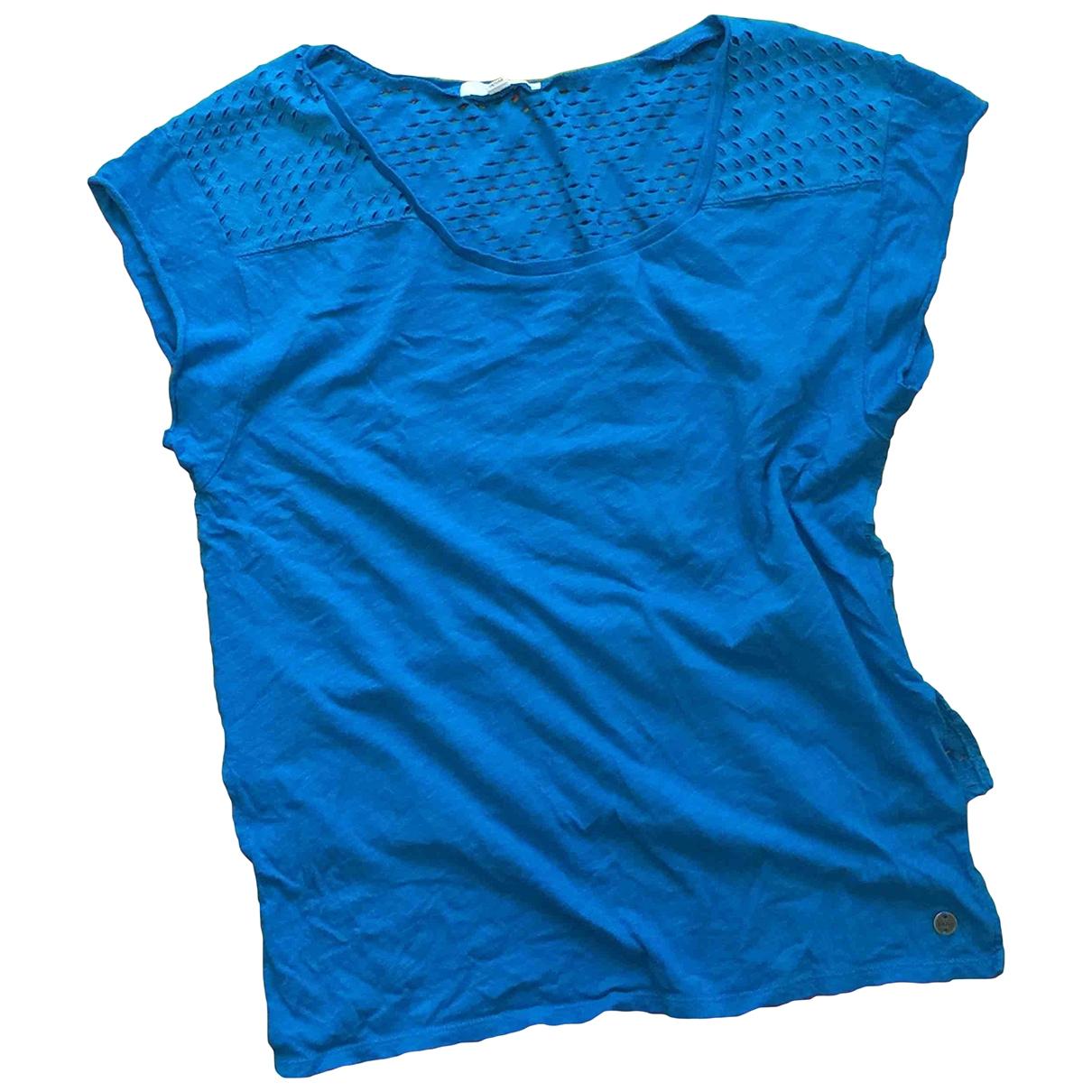 Vans - Top   pour femme en coton - turquoise