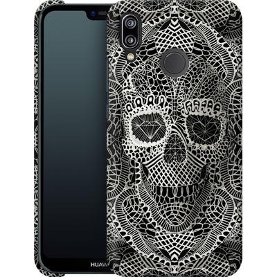 Huawei P20 Lite Smartphone Huelle - Lace Skull von Ali Gulec