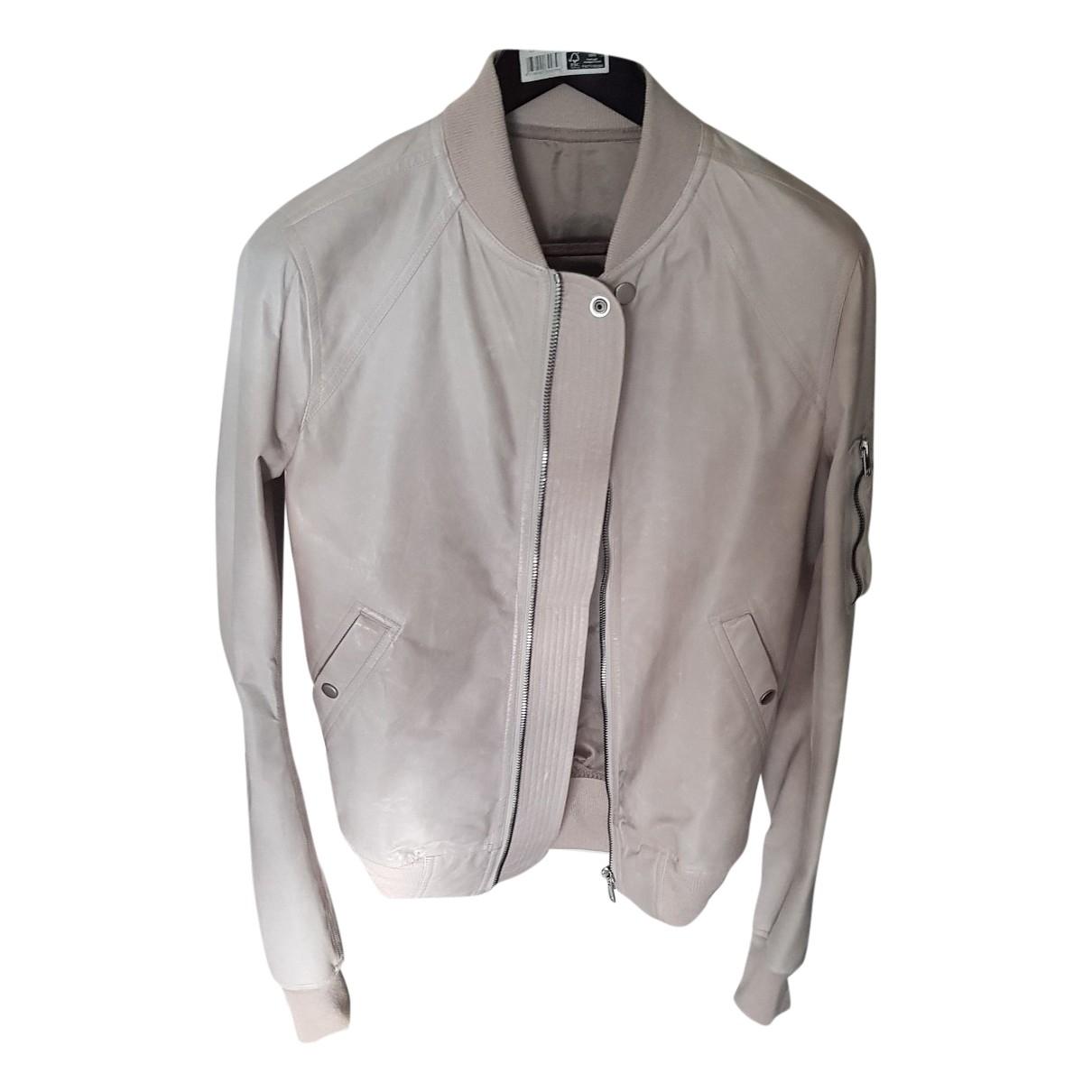 Rick Owens \N Beige Exotic leathers jacket  for Men 50 IT
