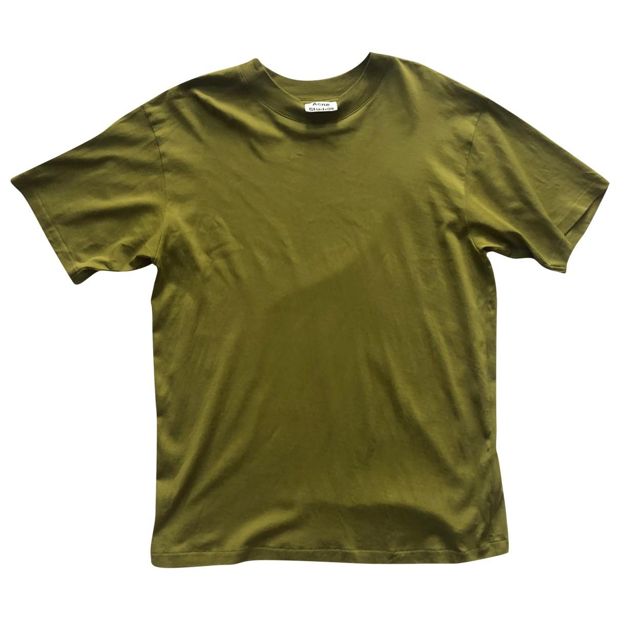 Acne Studios \N Green Cotton T-shirts for Men L International