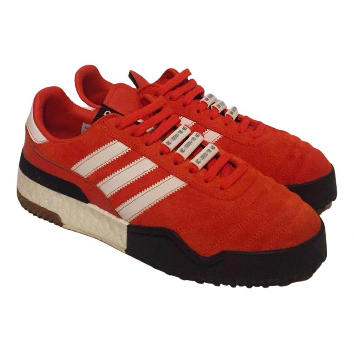 Adidas Originals X Alexander Wang \N Sneakers in  Orange Leinen