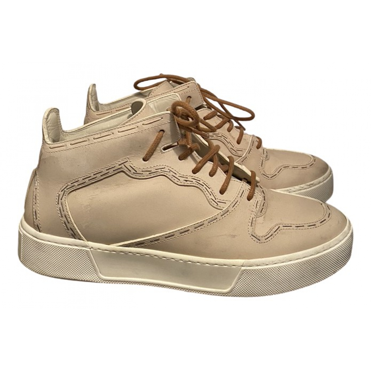 Balenciaga N Beige Leather Trainers for Women 39 EU
