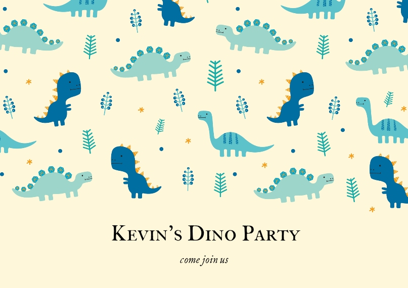 Education Business Postcards, Business Printing -Dinosaur Pattern
