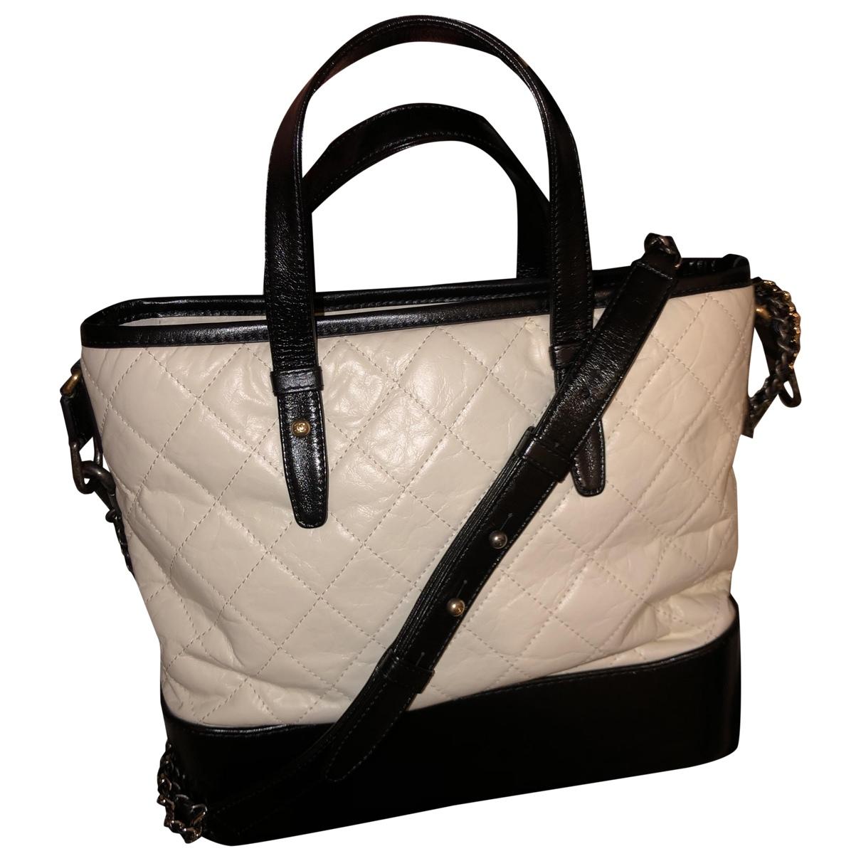 Chanel Gabrielle White Leather handbag for Women N