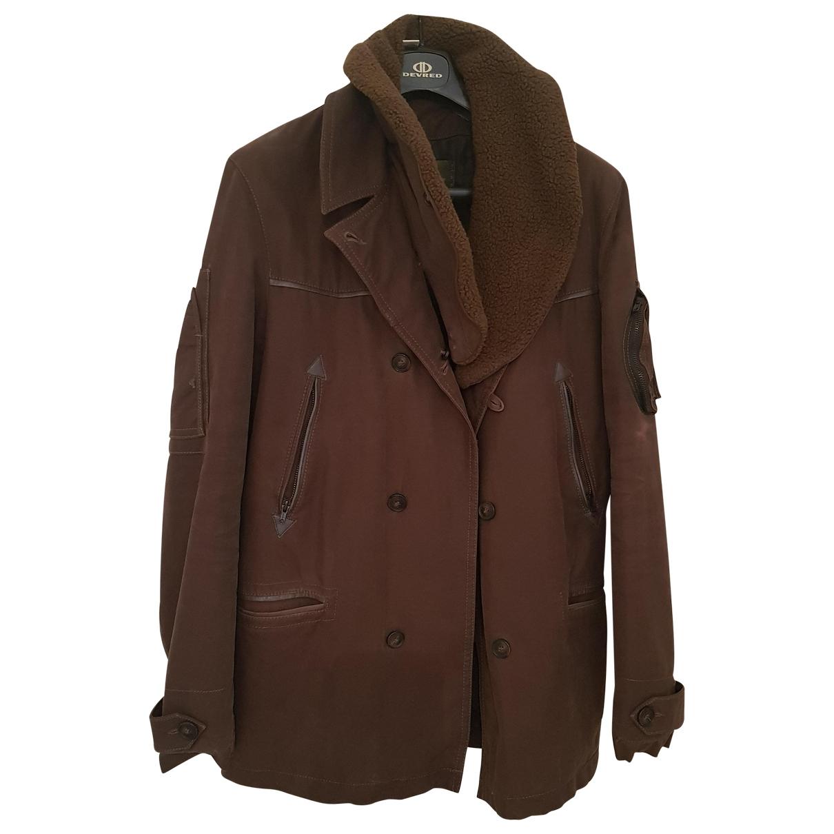 Ikks - Manteau   pour homme en toile - kaki