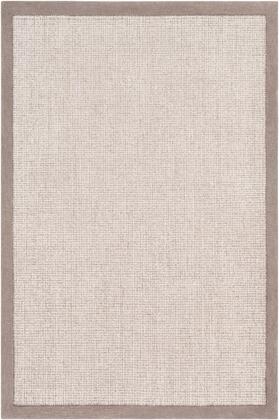 Siena SNA-2302 4' x 6' Rectangle Modern Rug in Medium Gray  Light Gray