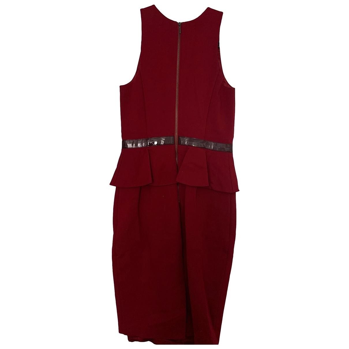 Emporio Armani \N Kleid in  Bordeauxrot Baumwolle - Elasthan