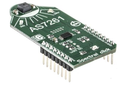 MikroElektronika MIKROE-2972, Spectral click for AS7261, AT25SF041 for LED Drivers